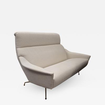 Guy Besnard Guy Besnard Fifties Comfy Couch Newly Covered in Canvas Cloth