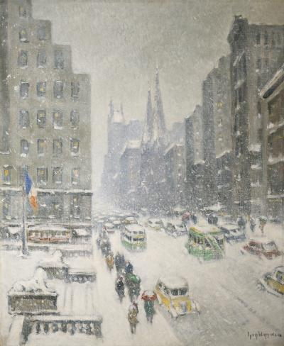 Guy Carleton Wiggins At the Library New York