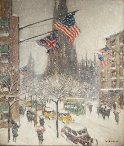 Guy Carleton Wiggins St Patrick s in Winter 1943
