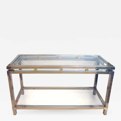Guy LeFevre A Good Quality Chrome and Brass Console Table by Guy LeFevre for Maison Jansen