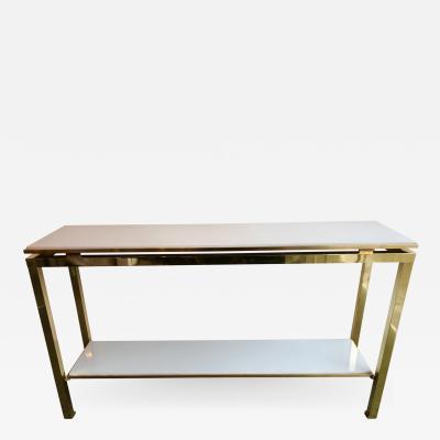 Guy LeFevre Brass Console Table Lacquered by Guy Lefevre for Maison Jansen France 1970s