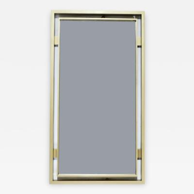 Guy LeFevre Brass mirror by Guy Lefevre for Maison Jansen 1970 s