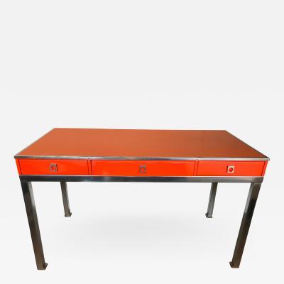 Guy LeFevre Desk Lacquered by Guy Lefevre for Maison Jansen France 1970s