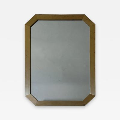 Guy LeFevre French Octagonal Brass Mirror by Guy Lefevre