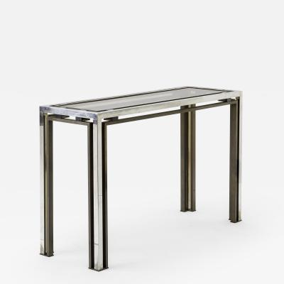 Guy LeFevre Guy Lefevre nickel glass console