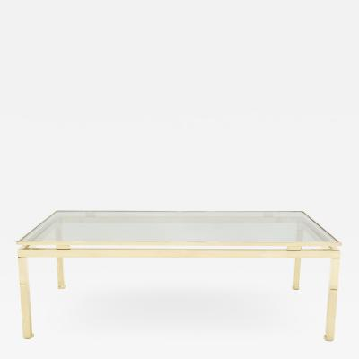 Guy LeFevre Hollywood Regency Brass coffee table Guy Lefevre for Maison Jansen 1970s