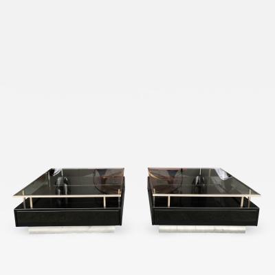 Guy LeFevre Pair of Lacquered Tables by Guy Lefevre for Maison Jansen France 1970s