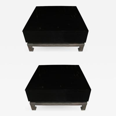 Guy LeFevre Pair of end tables by Guy Lefevre for Maison Jansen