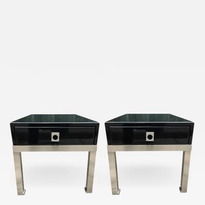 Guy LeFevre Pair of end tables by Guy Lefevre for Maison Jansen France 1970s