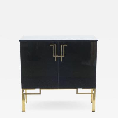 Guy LeFevre Rare cabinet bar Guy Lefevre for Maison Jansen brass lacquered 1970s