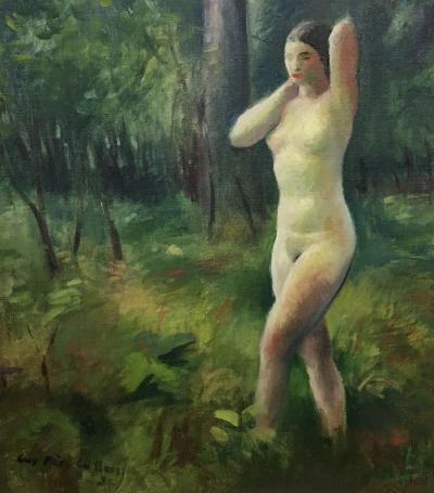 Guy Pene Du Bois Nude in the Woods
