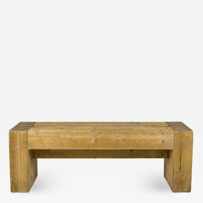 Guy Rey Millet Jean Prouv Jean Prouv with Guy Rey Millet Pair of Benches Wood circa 1967 France