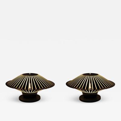 Guzzini Guzzini Pair of Table Lamps or Sconces Italy 1960
