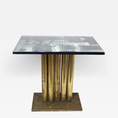 H Edward Winter Abstract Enamel Cocktaile Table by Edward Winter