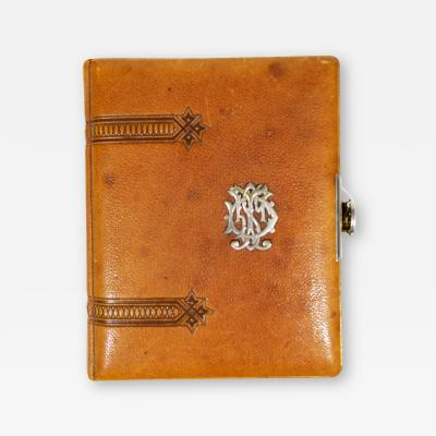 H Hove Lg Leather Book Metal Accents Charles Dickens Illustrated Photo Album