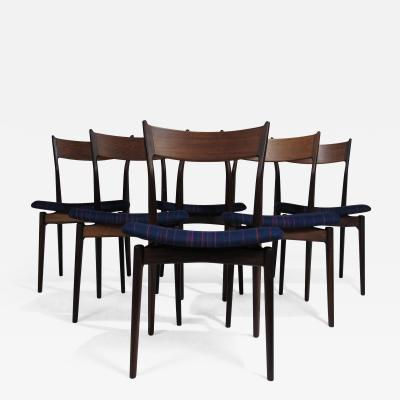 H P Hansen for Randers Danish Rosewood Dining Chairs