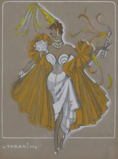 H R Fost Tabarin an Original French Costume Design by H R Fost circa 1940s