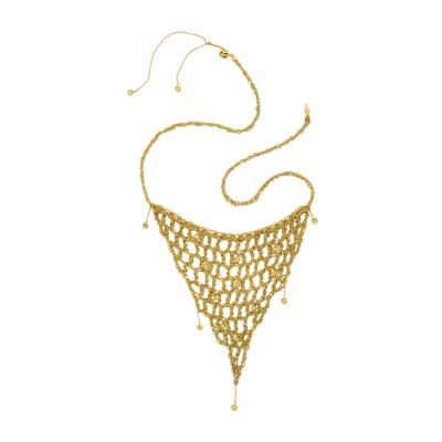 H Stern H Stern Diamond and Gold Mesh Necklace