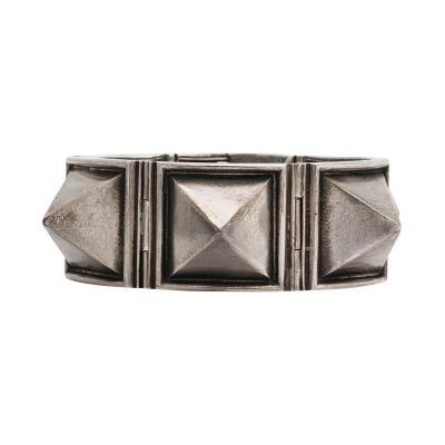 H Teguy 1950s Silver Bracelet