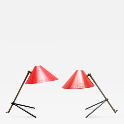 H Th J A Busquet Pair of Red Pinocchio Lamps