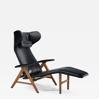 H W Klein Black Lounge Chair by H W Klein Denmark 1960s