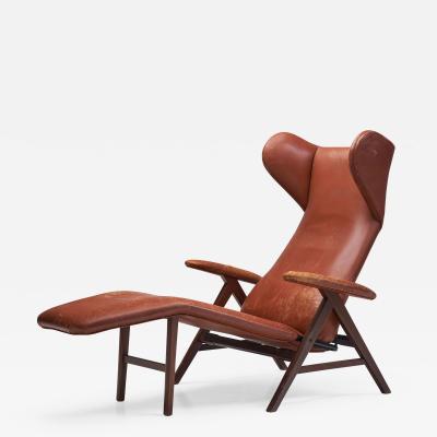 H W Klein Lounge Chair by H W Klein attr for Bramin Denmark 1960s