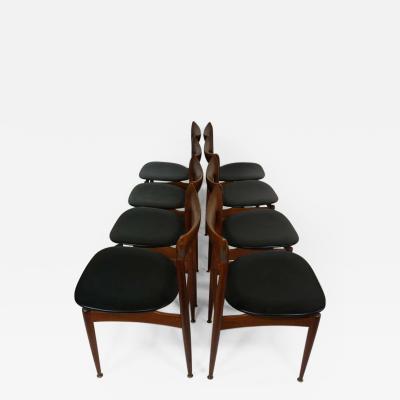 H W Klein Set of Eight Teak Danish Dining Chairs by H W Klein