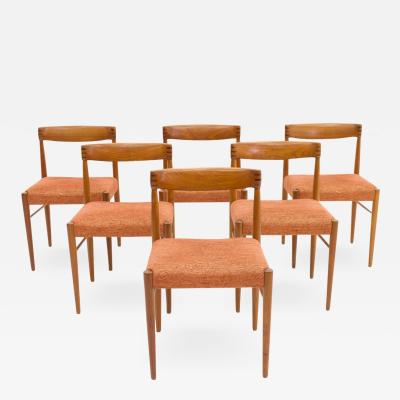 H W Klein Set of Six Danish Teakwood Dining Chairs by H W Klein for Bramin 1960s