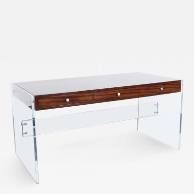 H l ne Aumont Modernist Lucite Desk by Helen Aumont