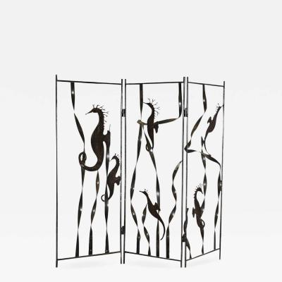 HAND CRAFTED METAL SEAHORSE ROOM DIVIDER