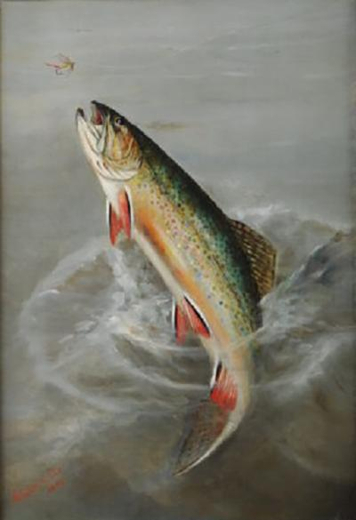 HARRY DRISCOLE Jumping Trout