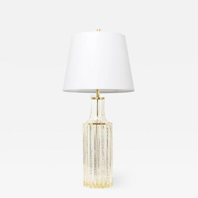 HIGHLY TEXTURED SCANDINAVIAN MODERN GLASS LAMP