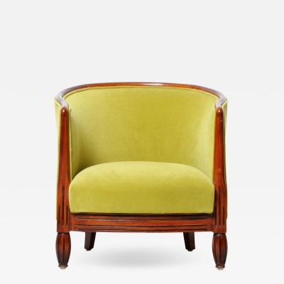 HUNGARIAN ART DECO ROUND BACK CHAIR