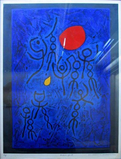 Haku Maki Signed Haku Maki Japanese Woodblock Poem 69 17
