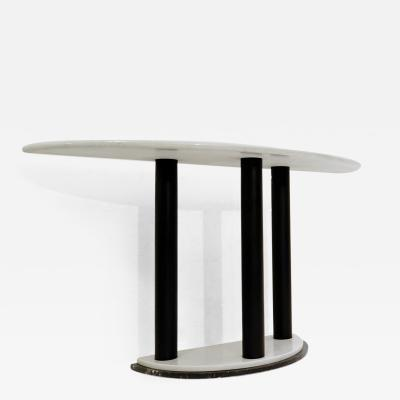 Half Moon Marble Console Table Ettore Sottsass Style