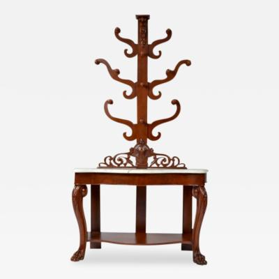 Hall Tree Console Table George IV Period England c a 1830