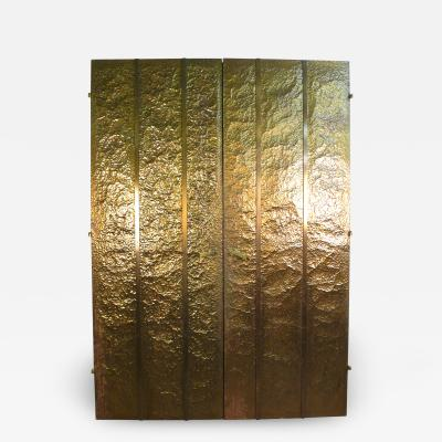 Hammered Brass Doors