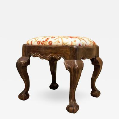 Hand Carved Walnut Ball and Claw Stool Portugal circa 1800