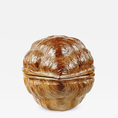 Hand Carved Walnut Covered Box by Guglielmo Pecorini