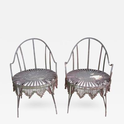 Hand Forged Iron Chain Tassel Design Armchairs