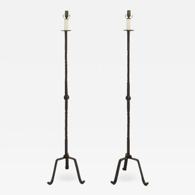 Hand Forged Iron Heavy Fine Floor Lamps