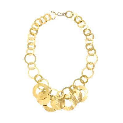 Hand Hammered 14 kt Gold Necklace
