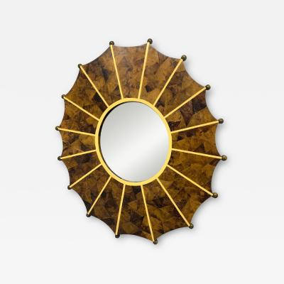 Hand Made Horn Mirror with Inlay