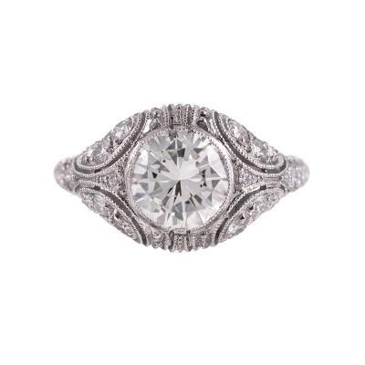 Hand Made Platinum 1 80 Carat Diamond Ring