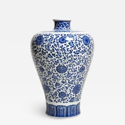 Hand Painted Blue and White Porcelain Flower Vase