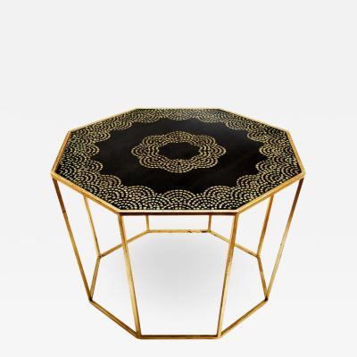 Hand Painted Gold Leaf Table