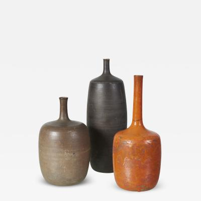 Hand Thrown Ceramic Vases Set