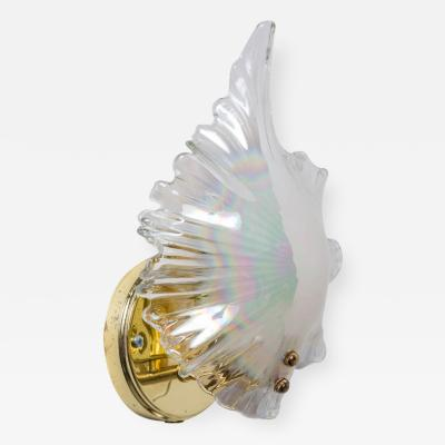 Handblown Glass Shell Sconce