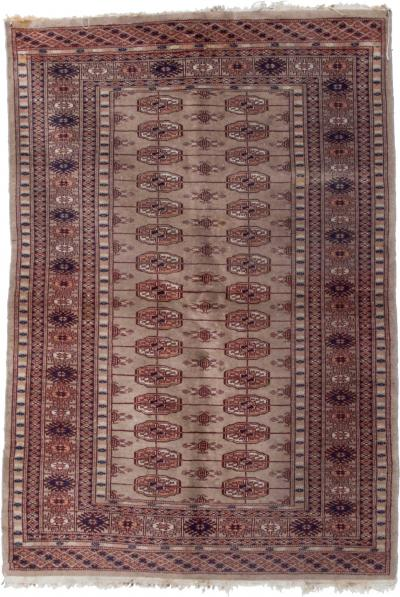 Handcrafted Wall Art Wool Tapestry Rug Harmonious Graphics in Beige 1970s