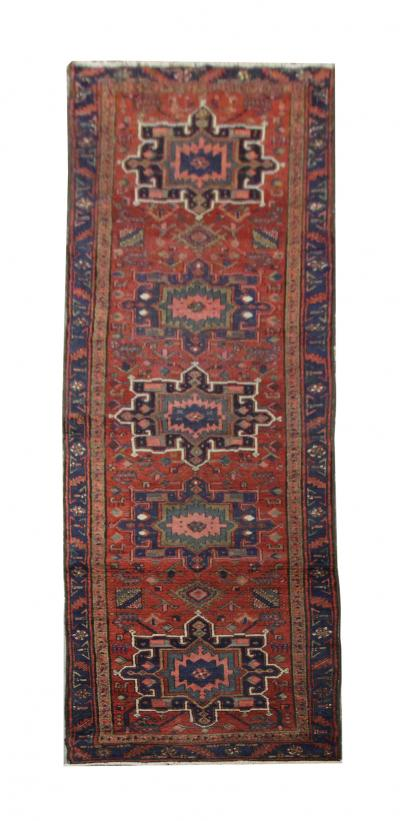 Handmade Antique Persian Karaje Runner Rug 97x405cm